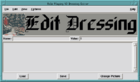 Dressing Editor Screen