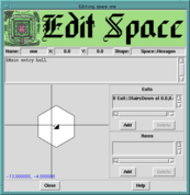 Space Editor Screen