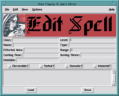 Spell Editor Screen