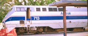 Amtrak No. 713 on a NYC Bound train