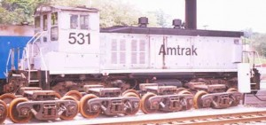 Amtrak No. 531, an EMD switcher at the Albany-Rensselaer, NY train station