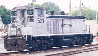 Amtrak No. 531, an alternitive view (after pulling off the Road Railers)
