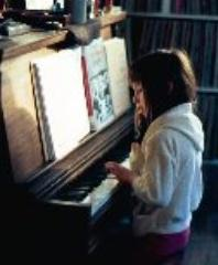 Celeste Playing the piano