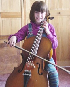 Celeste Playing Her Cello
