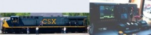 And a modern, high-power GE diesel locomotive.