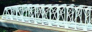 Completed bridge,Left End Closeup showing brace detail