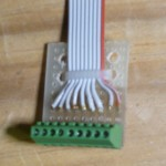 Signal Connector Board, cable secured with wire tie