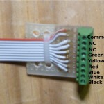 Signal Connector Board, Wiring Color Codes